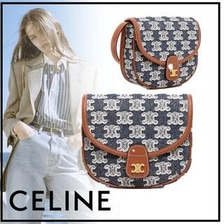 celine - ♡未使用♡  CELINE セリーヌ  トリオンフ   刺繍 ミニ バッグ