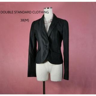 ダブルスタンダードクロージング(DOUBLE STANDARD CLOTHING)のダブルスタンダードクロージング 黒 ジャケット 秋冬 Mサイズ ショート丈(テーラードジャケット)