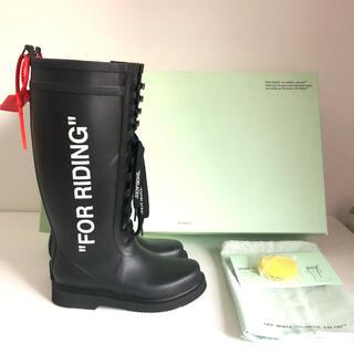 オフホワイト(OFF-WHITE)の【超美品】オフホワイト OFF-WHTE レインブーツ(レインブーツ/長靴)