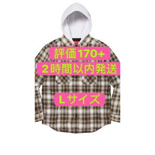 Supreme - Supreme Hooded Flannel Zip Up Shirt L