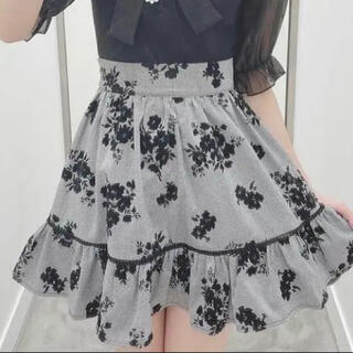 evelyn - Evelyn量産型フロッキーギャザーSK花柄スカート