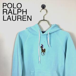 ポロラルフローレン(POLO RALPH LAUREN)のB533 ポロ ラルフローレン 長袖フード付きパーカートップス ブルー系 (パーカー)