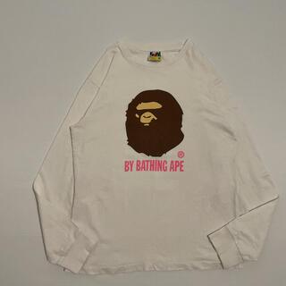 アベイシングエイプ(A BATHING APE)の古着 a bathing ape エイプ ロゴ ロンT 長袖tシャツ(Tシャツ/カットソー(七分/長袖))