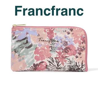 Francfranc - Francfranc ヴォヤージュ ティッシュ&マスクポーチ ライトピンク