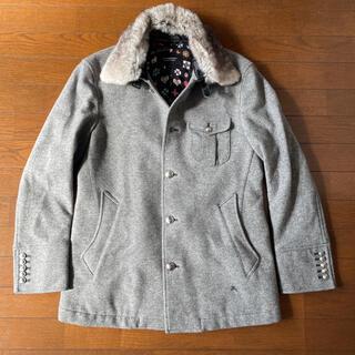 BURBERRY BLACK LABEL - バーバリーブラックレーベル☆ラビットファー付きウールコート