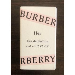 バーバリー(BURBERRY)のバーバリーハーオードパルファム 5ml(香水(女性用))