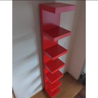IKEA - シェルフ ラック LACK 赤 IKEA