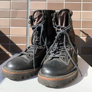 ディーゼル(DIESEL)のDIESEL BLACK GOLD 背面ジップアップブーツ(ブーツ)