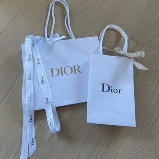 クリスチャンディオール(Christian Dior)のクリスチャンディオール ショッパー2枚 リボン付き(ショップ袋)