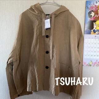 SM2 - 新品*TSUHARU*綿ヘンプフーディショートジャケット