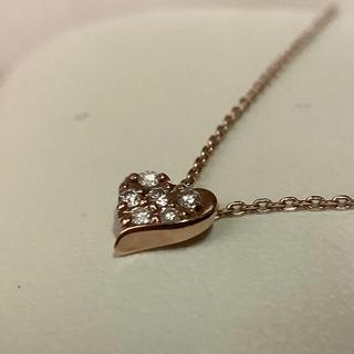 STAR JEWELRY - K10スタージュエリー ダイヤモンドハート ネックレス 美品