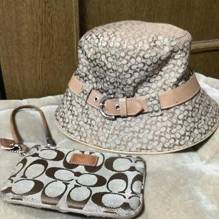 COACH - コーチ 帽子 & 小さいポーチ COACH