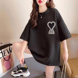 数量限定⭐️ハートエース Tシャツ ビッグシルエット トップス⭐️黒 ブラック