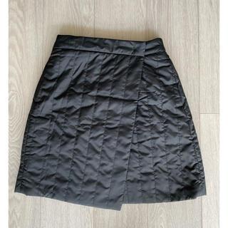 UNIQLO - ユニクロ 防風ウォームイージーラップミニスカート 黒 XS