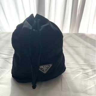 プラダ(PRADA)のPRADA プラダ バッグ 巾着 黒(ポーチ)