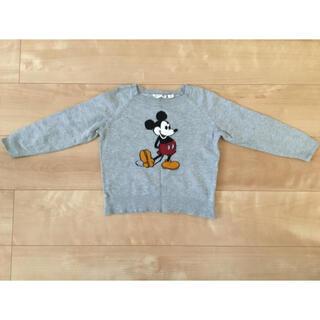 ユニクロ(UNIQLO)の【ユニクロ】 ミッキーマウス ニット (グレー/100サイズ)(ニット)
