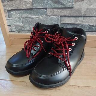 美品☆ 男の子 21cm 黒ブーツ スニーカー 靴(スニーカー)