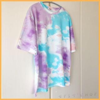 【新品】レディース トップス 半袖 Tシャツ 染色 XLサイズ ゆったり
