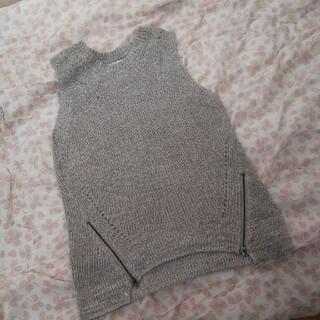 しまむら - しまむら  ラフラフ  編み ニット ベスト Lサイズ