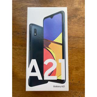ギャラクシー(Galaxy)のUQモバイル Galaxy A21 SCV49 ブラック(スマートフォン本体)