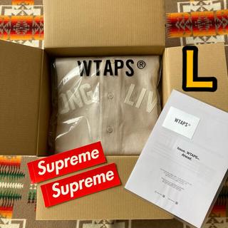 W)taps - 新品・未開封 ダブルタップス ベースボールシャツ ベージュ L ステッカー付