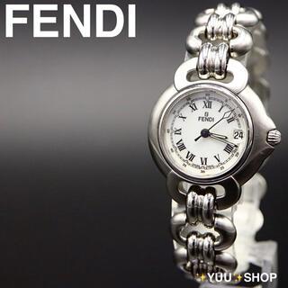 FENDI - 美品【電池新品】FENDI フェンディ ローマン デイト 腕時計 レディース
