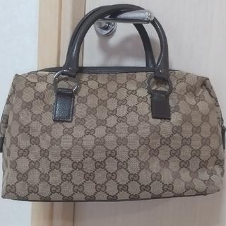 Gucci - グッチ★カーキベージュ系色のハンドバッグ