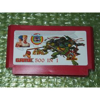 ファミリーコンピュータ(ファミリーコンピュータ)の【FC】500in1 ファミコンカセット(家庭用ゲームソフト)