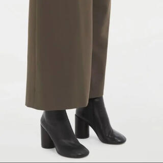 エムエムシックス(MM6)のメゾン マルジェラ エムエム6 6 ヒール レザー アンクル ブーツ MM6(ブーツ)
