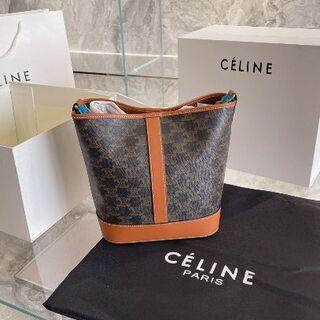 celine - CELINE ミディアム バケット / トリオンフキャンバス