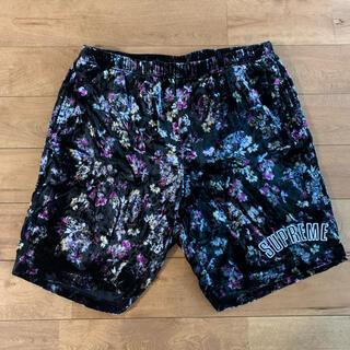 Supreme - supreme floral velour shorts L 美品 19aw