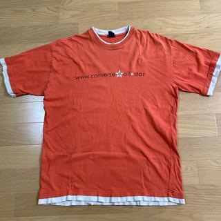 CONVERSE - converse Tシャツ4L オレンジ