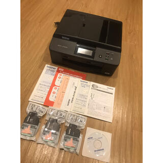 ブラザー(brother)のbrother ブラザー DCP-J740N プリンター 新品インク×3(PC周辺機器)