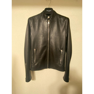 サンローラン(Saint Laurent)の新品同様 正規 サンローラン 44 キース レーサー ジャケット レザー 42(ライダースジャケット)