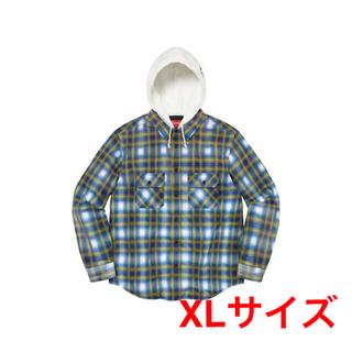 Supreme - XL supreme hooded flannel zip up shirt