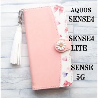 AQUOS sense5G sense4 sense4 lite ピンク リボン