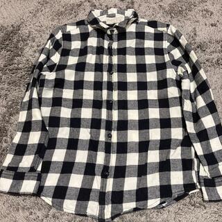 ザラキッズ(ZARA KIDS)のザラボーイ⭐︎ネルシャツ キッズ ブラックチェック 140(Tシャツ/カットソー)