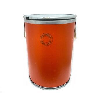 エルメス(Hermes)のエルメス セリエ 馬具入れ サドルボックス 大 マルチケース ドラム缶 オレンジ(彫刻/オブジェ)