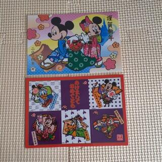 Disney - ディズニーリゾート お正月 ポストカード 2枚