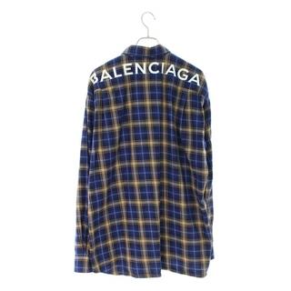 バレンシアガ(Balenciaga)のバレンシアガ バックロゴプリントチェック長袖シャツ 38(シャツ)
