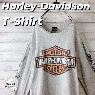 ハーレーダビッドソン(Harley Davidson)の【ハーレーダビッドソン】ロンT 長袖Tシャツ ビッグプリント 袖ロゴ ゆるだぼ(Tシャツ/カットソー(七分/長袖))