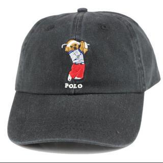 ポロラルフローレン(POLO RALPH LAUREN)の【新品未使用】POLO ゴルフベアーキャップ ブラック(キャップ)
