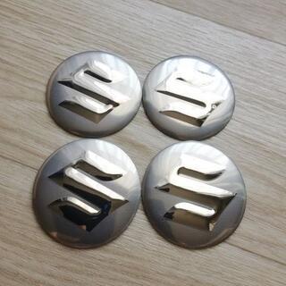 SUZUKI ホイールセンターキャップシール 4枚セット 銀