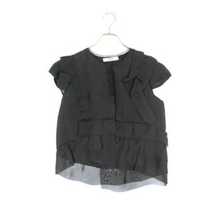 プラダ(PRADA)のプラダ フリルボタンデザイン半袖シャツ 40(シャツ/ブラウス(半袖/袖なし))