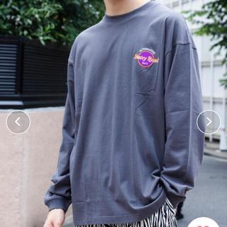 ウィゴー(WEGO)の今季!WEGO ウィゴー サークルロゴ刺繍 ロンT スミクロ M(Tシャツ/カットソー(七分/長袖))