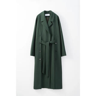 mame - Murral Slit long gown coat (Green)