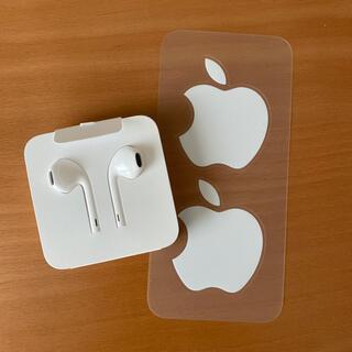Apple - 【新品未使用】iPhone純正付属イヤホン&Appleシール