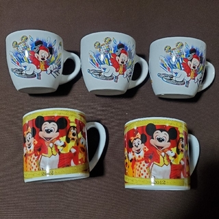 Disney - ディズニースーベニアカップ5個