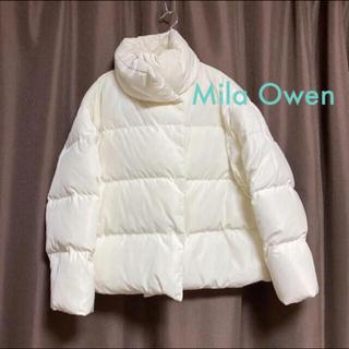 Mila Owen - Mila Owen ビッグカラーダウンジャケット 0 白
