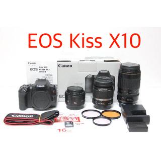 Canon - 【極上品】Canon EOS Kiss X10 トリプルレンズ★おまけ★キヤノン